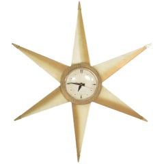 Mid-Century Modern Star Electric Clock Bilt Rite Mfg Co