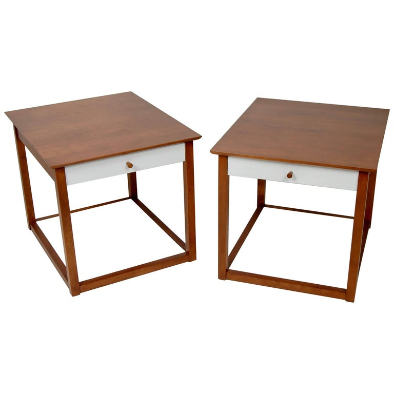 Early Milo Baughman Design End Tables for Murray