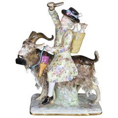 Meissen Porcelain of a Man on a Goat