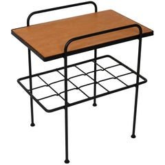 Early 1905s California Modernist Iron and Wood End Table by Inco