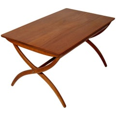 Danish Modern Ole Wanscher Adjustable Coffee / Dinette Table