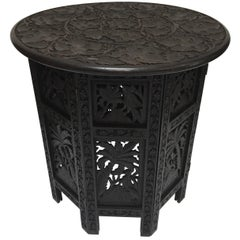 Anglo-Indian Fine Quality Exotic Pierced Hand-Carved Octagonal Table