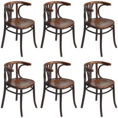 Set of Six Turn of the Century Thonet Bentwood Chairs