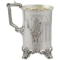 1843 Antique Sterling Silver Mug