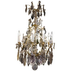 Cristalleries De Baccarat French Louis XV Style Ormolu & Crystal Chandelier 1850