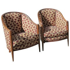 Pair of Two Armchairs, Jallot, circa 1930