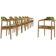 Set of Eight Swedish Armchairs by OPE