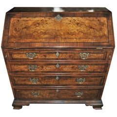 18th Century English Kashmir Walnut Secretary