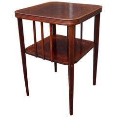 Stunning Viennese Secession Coffee, Books or End Table Wonderful Shape & Patina