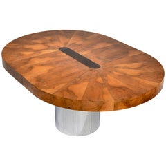 Paul Evans Burl Wood Cityscape Dining Table