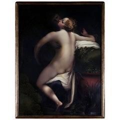 Enamel Plaque of Jupiter and Io after Correggio by Henry Bone