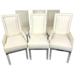 Six Charles Hollis Jones Lucite Dining Chairs