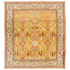 21st Century Modern Peach Multi-Color Tabriz-Style Carpet