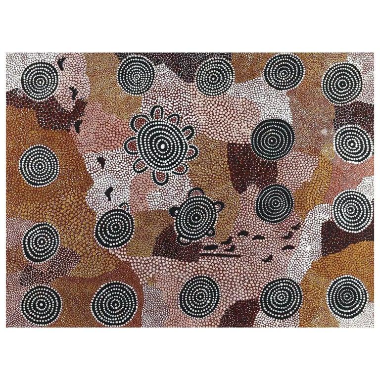 Australian Aboriginal Painting, Johnny Warangula Tjupurrula, Kampara Landscape
