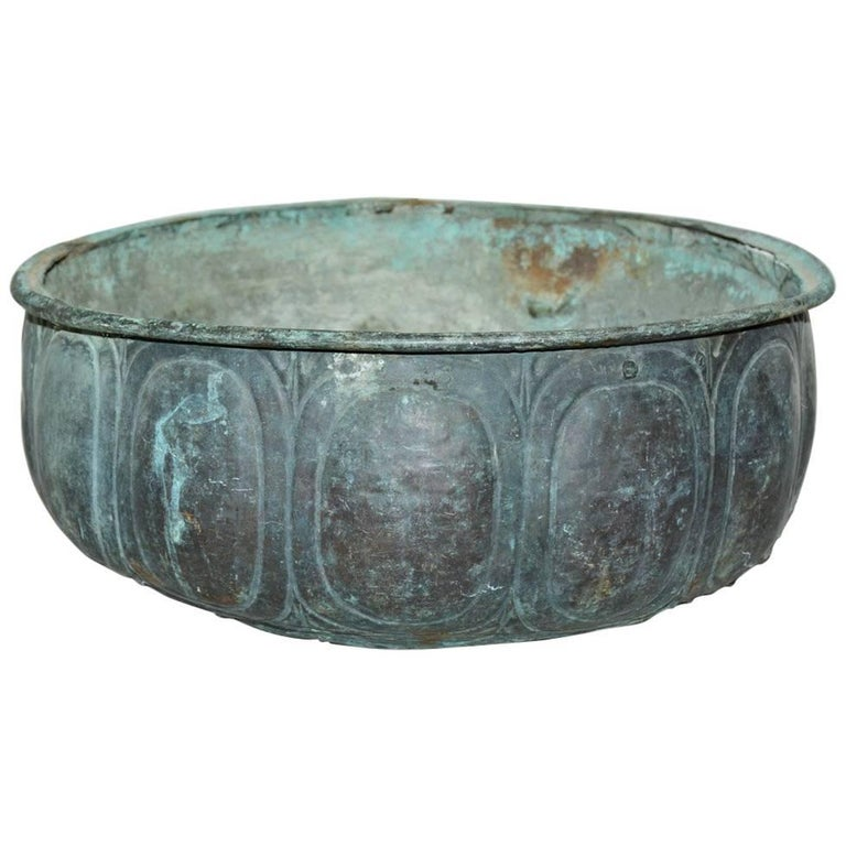 19th Century Copper Bowl Planter