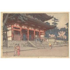 Hiroshi Yoshida, Shin Hanga, Omuro, Buddhist Temple, Japanese Woodblock Print