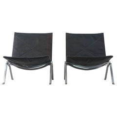 Poul Kjaerholm Pair of PK-22 Chairs for E Kold Christensen, 1960s, Denmark