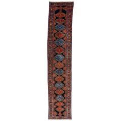 Antique Blue Persian Malayer Runner Rug