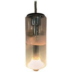 Space Age Pendant Light by Giusto Toso for Leucos in Opalescent Murano Glass