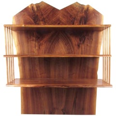 Live Edge Wall Shelf in the Style of George Nakashima