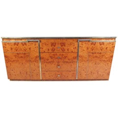 Vintage Burl Wood Sideboard after Romeo Rega