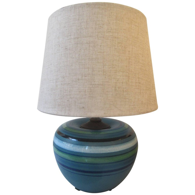 """Bitossi for Rosenthal Netter Ceramic """"Fascie Colorate"""" Table Lamp"""