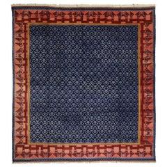 Vintage Turkish Oushak Konya Inspired Rug with Modernist Art Deco Style