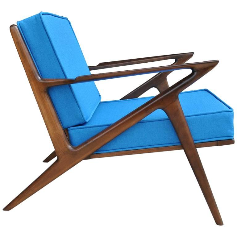 Vintage Midcentury Z Chair by Poul Jensen for Selig For Sale