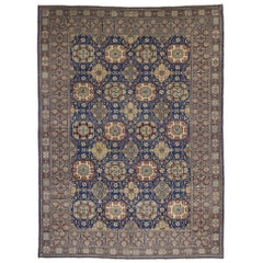 Vintage Turkish Oushak Rug with Modern Luxe Style and Bold Art Deco Design