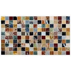 20th Century Rectangular Specimen Multicolour Marble Italian Table