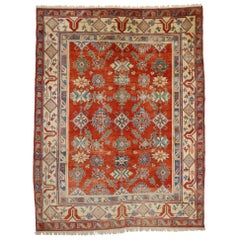 Contemporary Turkish Oushak Area Rug with Modern Style in Classic Pattern