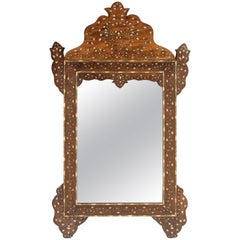 Middle Eastern Mother-of-Pearl Inlaid Mirror