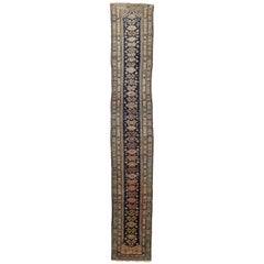 Antique Persian Malayer Rug Runner, Extra Long Hallway Runner
