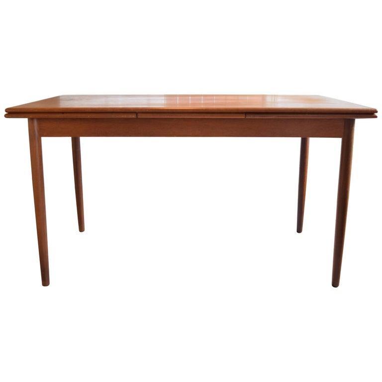 Danish Midcentury Teak Dining Table, 1960s