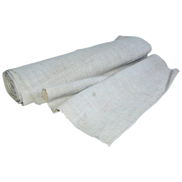 Vintage Grain Sack Fabric For Sale