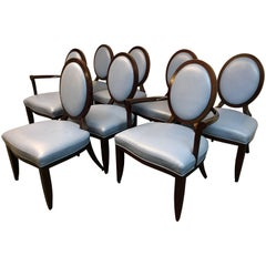 Set of Eight Baker Furniture Oval X-Back Barbara Barry Dining Chairs