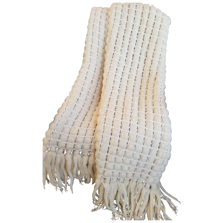 Italian Merino Wool Tassel Throw by Le Lampade