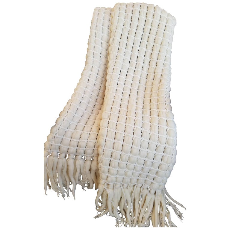 Italian Merino Wool Tassel Throw