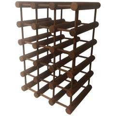 Danish Modern Teak 15 Bottle Wine Rack / Holder by Nissen Langaa