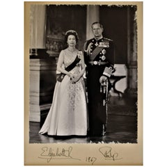 Hand Signed Queen Elizabeth II and Prince Phillip Photograph