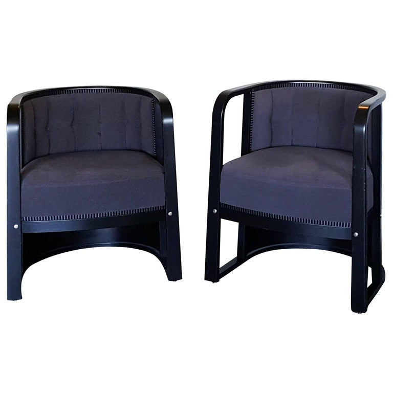 Lounge Chair design Joseph Hoffmann by Wittmann Austria Art Deco Design, 1980