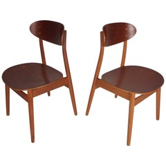 Pair of Mid-Century Modern Danish Chairs