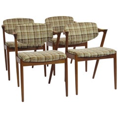 20+ Kai Kristainsen Danish Teak Dining Chairs Model 42 for Custom Upholstery