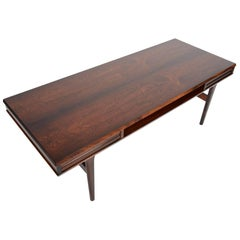 Danish Modern Rosewood Coffee Table with Drawers