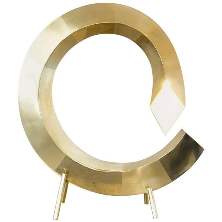 Brass Spiral Table Lamp, Rooms For Sale