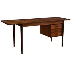 Vintage Danish Teak Drop-Leaf Desk