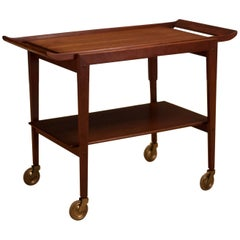 Danish Teak Bar Cart by Peter Hvidt & Orla Mølgaard-Nielsen