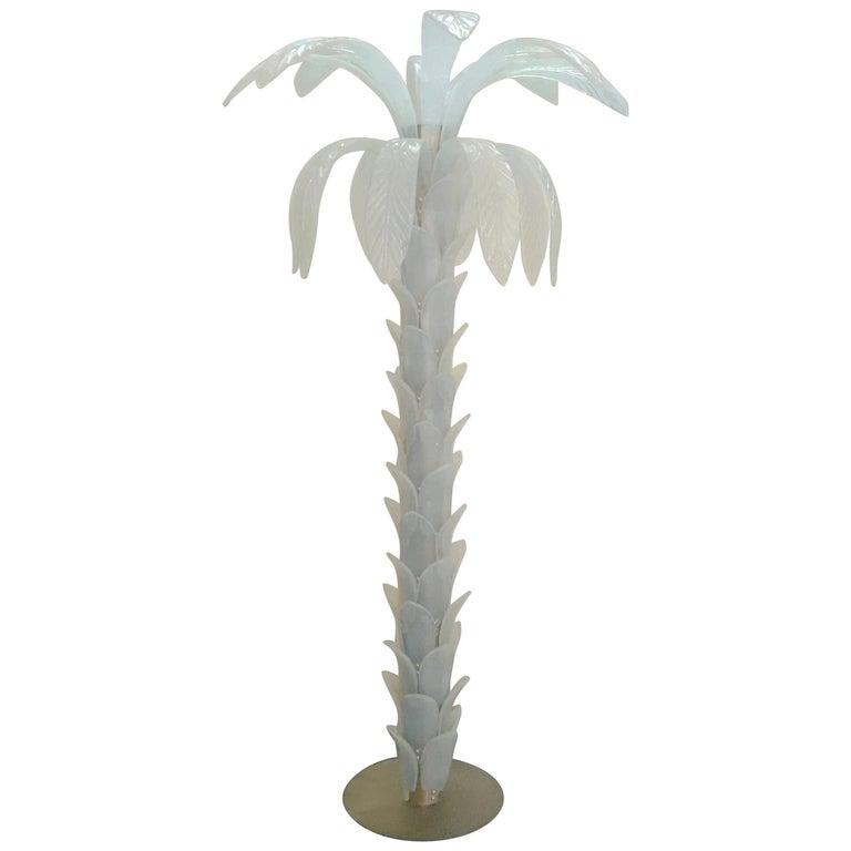 Opaline Murano Palm Tree Floor Lamp