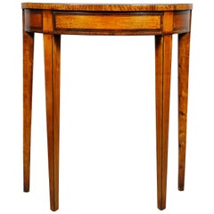 George III Satinwood Demilune Console Table