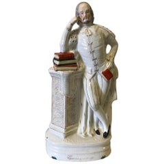 19th Century Staffordshire Portrait Figure of Shakespeare